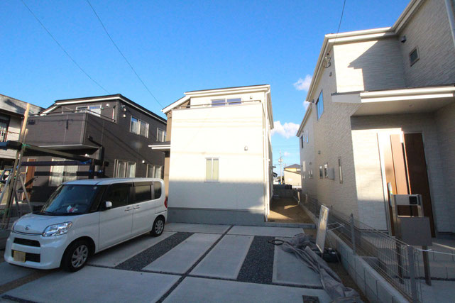 岡山県倉敷市児島赤崎の新築 一戸建て 分譲住宅の外観写真