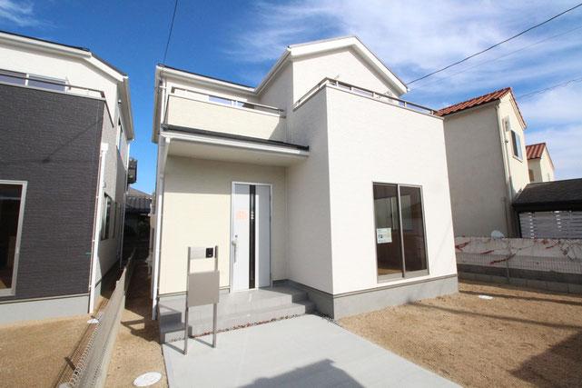 岡山県倉敷市酒津の新築 一戸建て 分譲住宅の外観写真