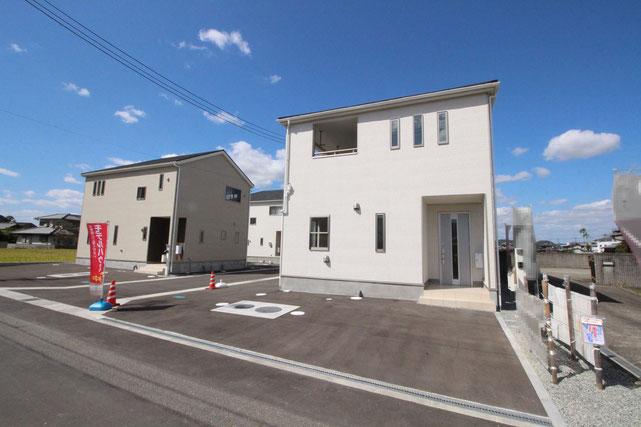 岡山県瀬戸内市長船町土師の新築 一戸建て 分譲住宅の外観写真
