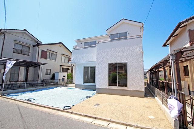 岡山県倉敷市中島の新築 一戸建て 分譲住宅の外観写真
