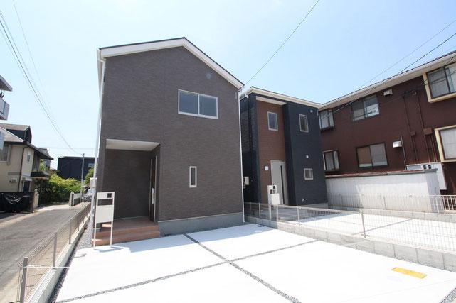 岡山県岡山市北区辰巳の新築 一戸建て 分譲住宅の外観写真