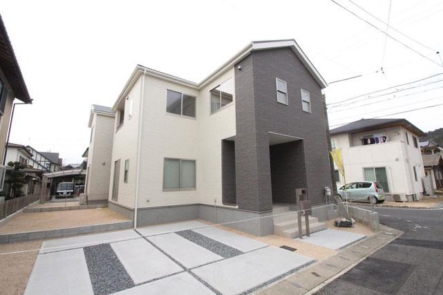 岡山県倉敷市連島町矢柄の新築 一戸建て 分譲住宅の外観写真