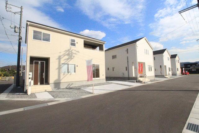 岡山県倉敷市東塚の新築 一戸建て 分譲住宅の外観写真