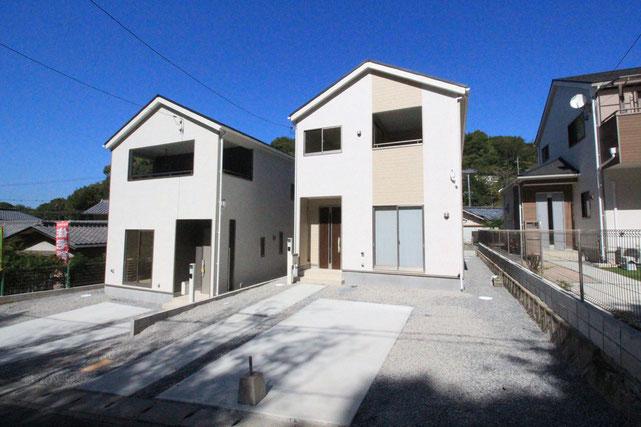 岡山県岡山市中区門田文化町の新築 一戸建て 分譲住宅の外観写真