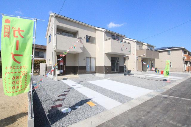 岡山県岡山市南区植松の新築 一戸建て 分譲住宅の外観写真