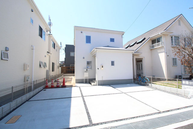 岡山県岡山市南区築港ひかり町の新築 一戸建て 分譲住宅の外観写真