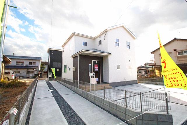 岡山県倉敷市堀南の新築 一戸建て 分譲住宅の外観写真