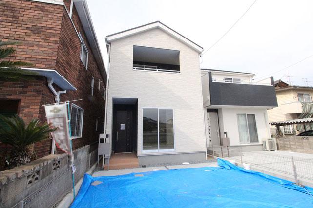 岡山県倉敷市茶屋町の新築 一戸建て 分譲住宅の外観写真
