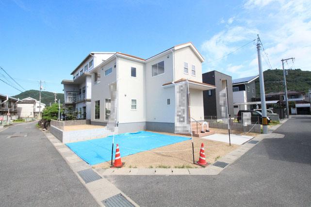 岡山県倉敷市児島唐琴の新築 一戸建て 分譲住宅の外観写真