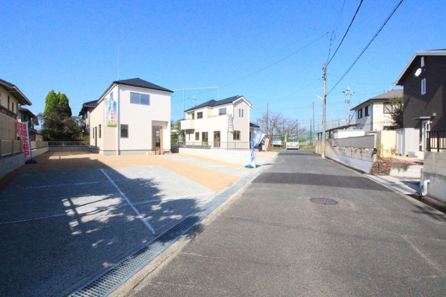 岡山県赤磐市桜が丘の新築 一戸建て 分譲住宅の外観写真