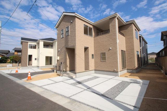 岡山県倉敷市四十瀬の新築 一戸建て 分譲住宅の外観写真