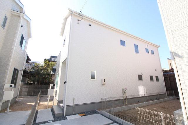 岡山県岡山市北区西長瀬の新築 一戸建て 分譲住宅の外観写真
