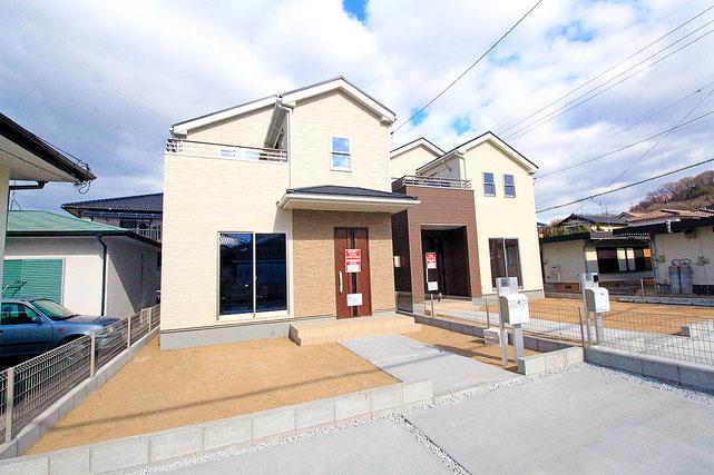 岡山市東区藤井の新築 一戸建て 分譲住宅の外観写真