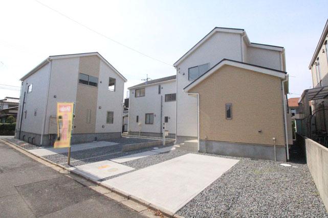 岡山県岡山市中区中井の新築 一戸建て 分譲住宅の外観写真