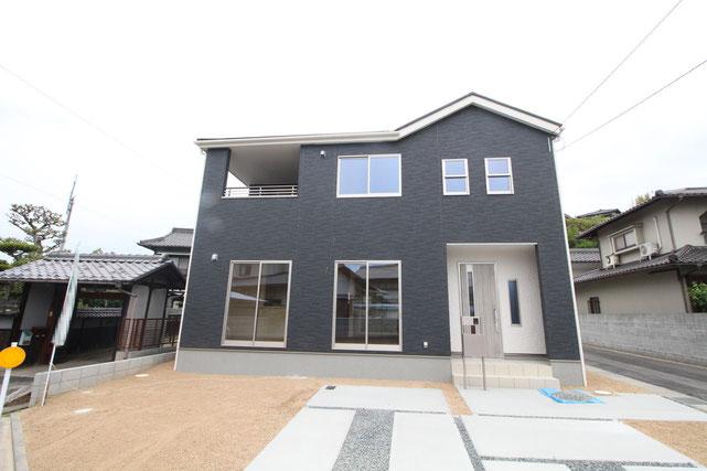 岡山県倉敷市片島町の新築 一戸建て 分譲住宅の外観写真
