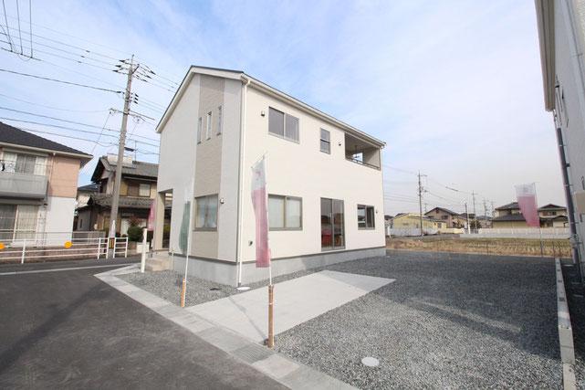 岡山県倉敷市玉島乙島の新築 一戸建て 分譲住宅の外観写真