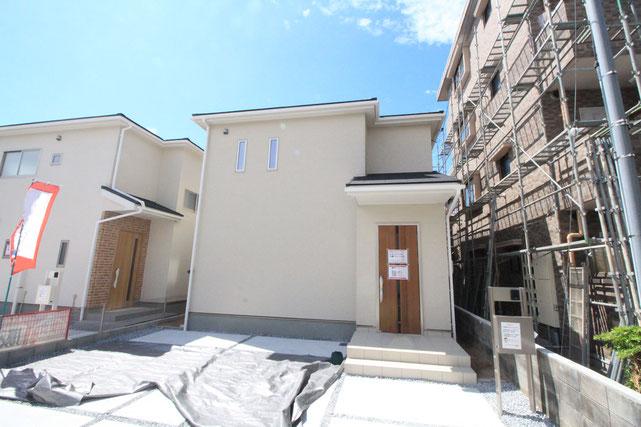 岡山市北区下伊福上町の新築 一戸建て 分譲住宅の外観写真