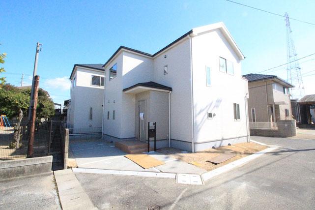 岡山県岡山市南区福島の新築 一戸建て 分譲住宅の外観写真