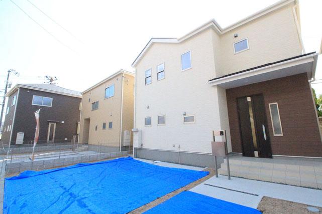 岡山県倉敷市児島小川の新築 一戸建て 分譲住宅の外観写真