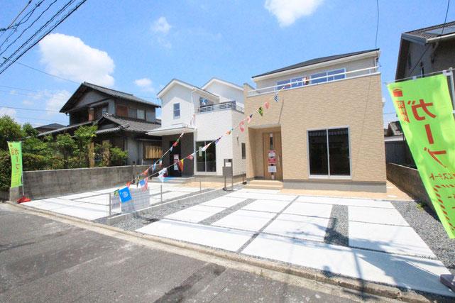 岡山県倉敷市黒崎の新築 一戸建て 分譲住宅の外観写真