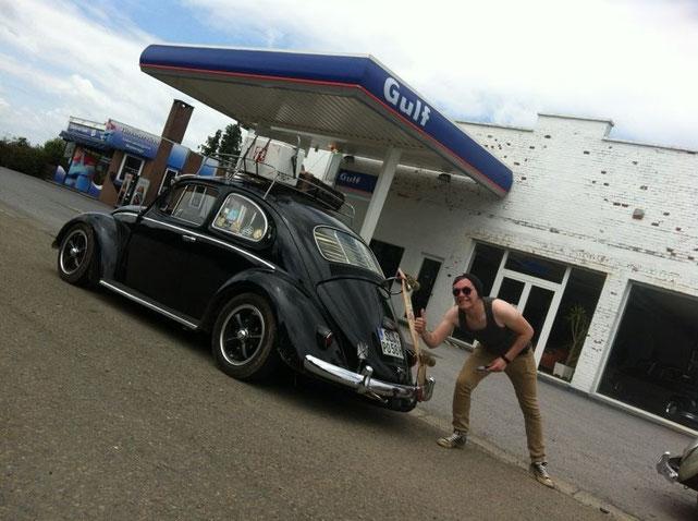 Luciens Käfer und ich :-D