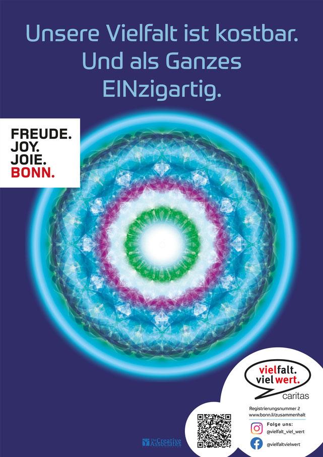 DIN A1 Plakat zur Ausstellung #zusammenhalt in Bonn von Susanne Barth, The Creative Associates