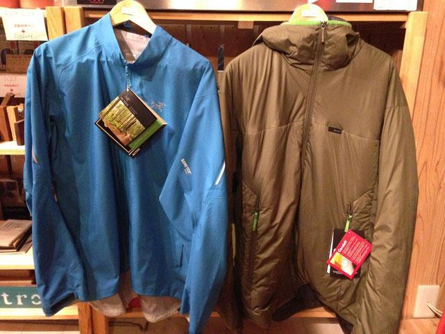 (左) アークテリクス Visio FL Jacket(Lサイズ) (右) アークテリクス Aphix Hoody(XLサイズ)