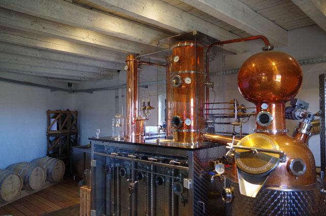"""Mit viel Freude am Gin wird hier der BOOTSMANN destilliert, """"Mühle4"""" in Kempen"""