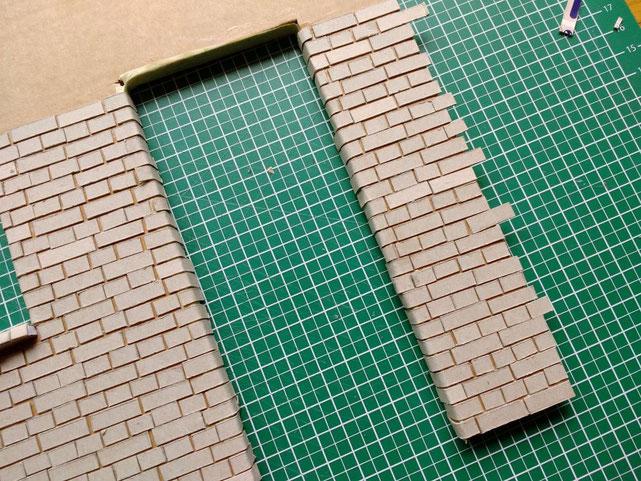 Ziegelwand 1 zu 12 basteln
