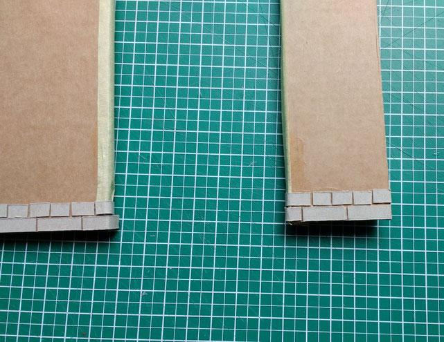 Miniatur-Ziegelfassade basteln