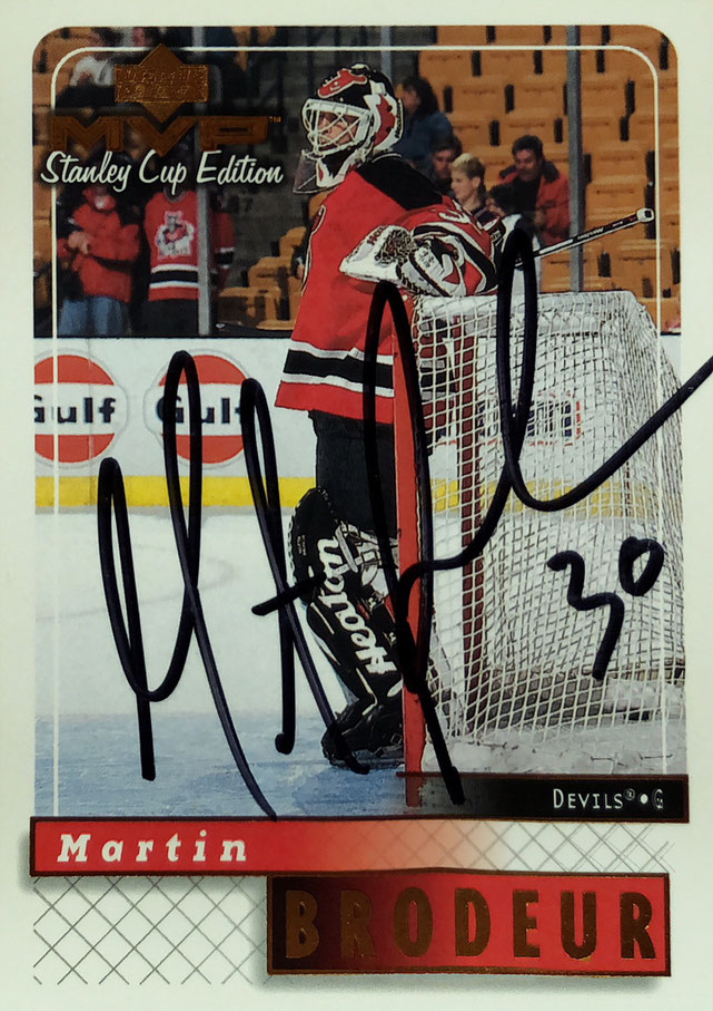 Autograph Martin Brodeur Autogramm