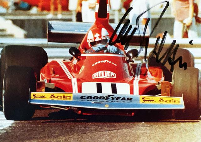 Autograph Clay Regazzoni Autogramm