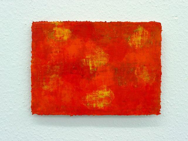 2 - Zeki Arslan - Rot ist überall - 2014 - Öl auf Papier - 21 x 30 cm