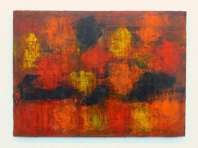 5 - Zeki Arslan - schwarze Insel - 2014 - Öl auf Papier - 36 x 50 cm