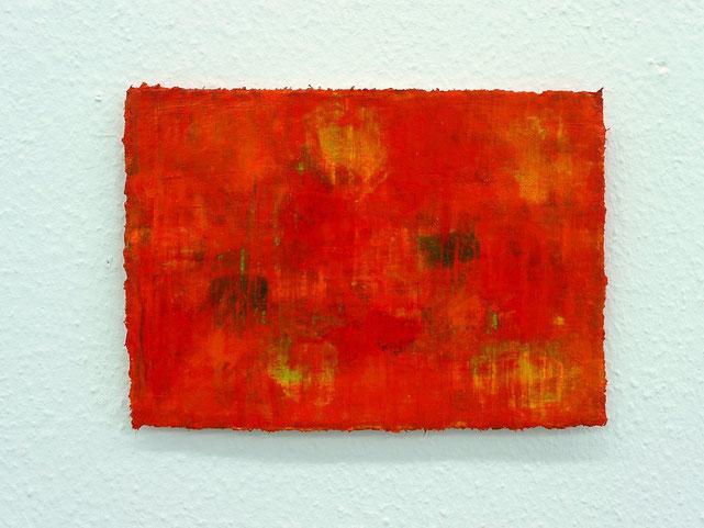 3 - Zeki Arslan - Rot ist überall - 2014 - Öl auf Papier - 21 x 30 cm - 500,- € (Mitglieder) - 1500,- € (Nichtmitglieder)