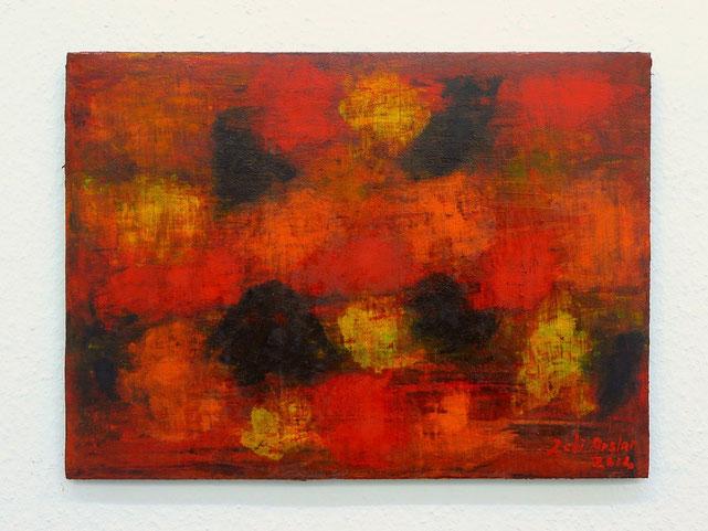 4 - Zeki Arslan - schwarze Insel - 2014 - Öl auf Papier - 36 x 50 cm - 850,-  € (Mitglieder) - 2400,- € (Nichtmitglieder)