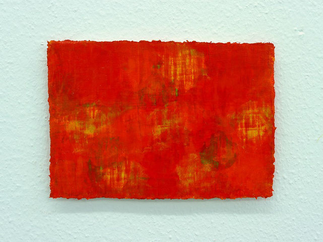 1 - Zeki Arslan - Rot ist überall - 2014 - Öl auf Papier - 21 x 30 cm