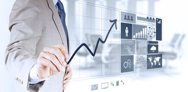 知的資産経営を活用して売上・利益のアップのイメージ