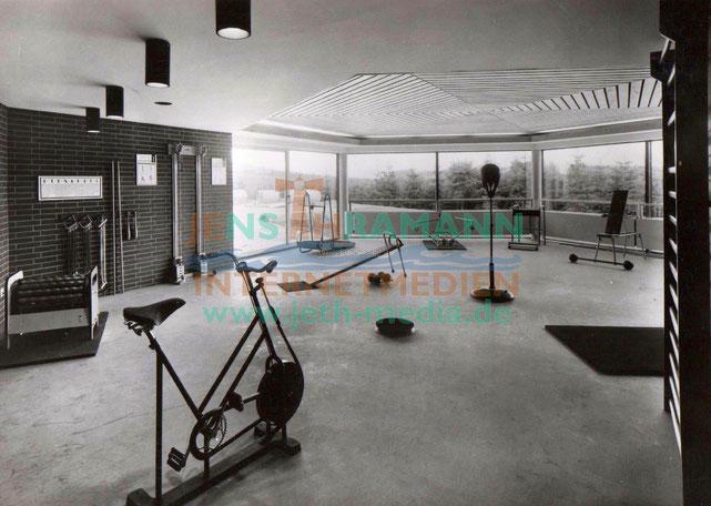 Im Sportkabinett konnte man sich körperlich ertüchtigen