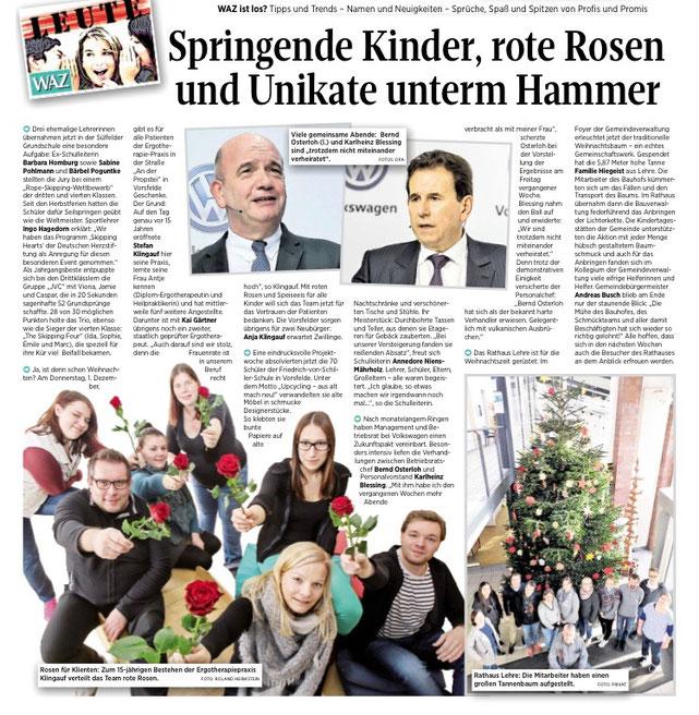 Sogar die Wolfsburger Nachrichten haben vom Jubiläum berichtet.
