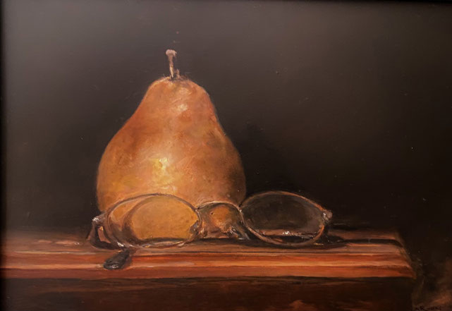 Pear and Glasses