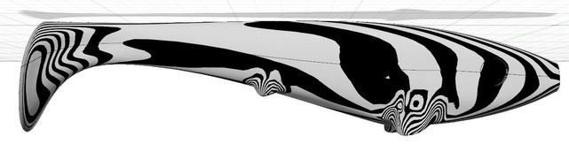 Zebraanalyse am Modell des Koederfisches in Fusion360