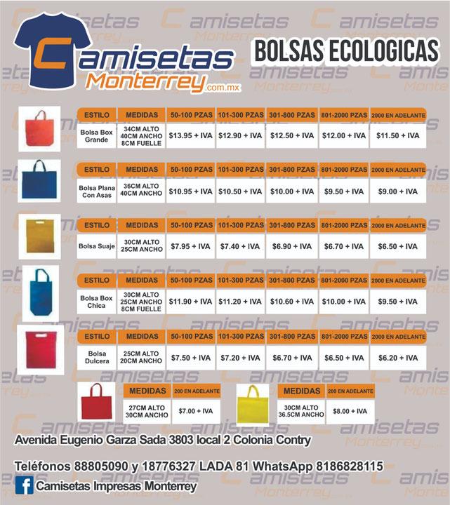 Bolsas ecológicas económicas Monterrey