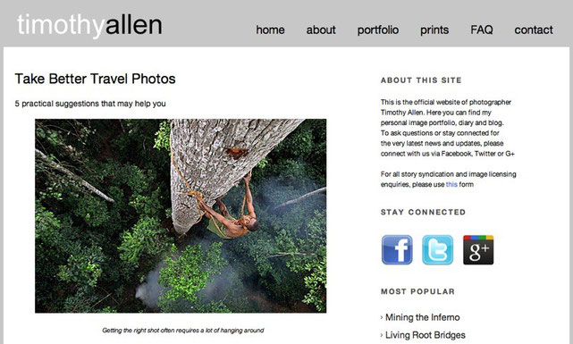 Timothy Allen Website