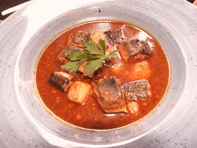 Allipebre de anguila. Uno de los platos para este otoño-invierno en El Marino Port