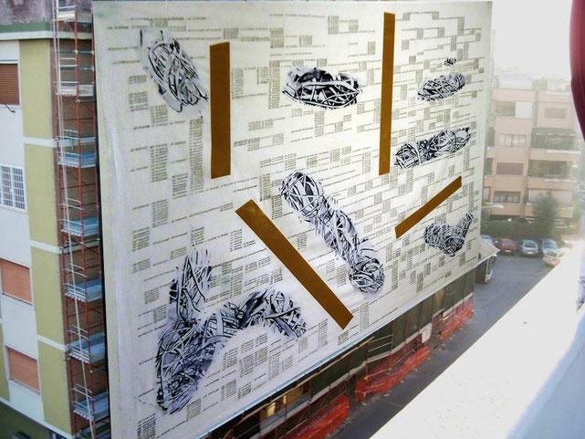 Solares opera per Murales per studio.ra Città di Roma