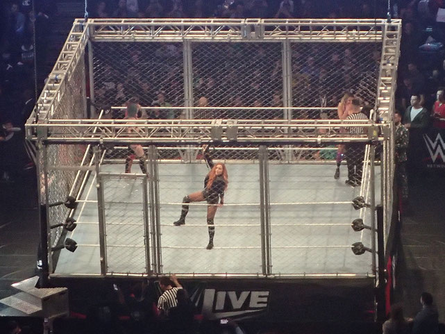 The First Ever Women's Triple Threat Steel Cage Match