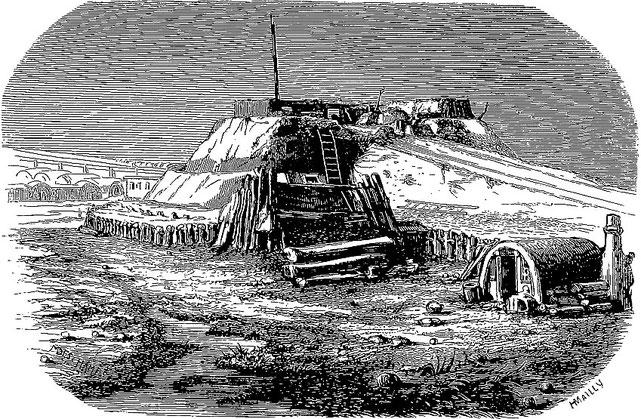 Second grand fort de Ta-Kou. Armand LUCY : Lettres intimes sur la campagne de Chine en 1860. Jules Barile, Marseille, 1861.
