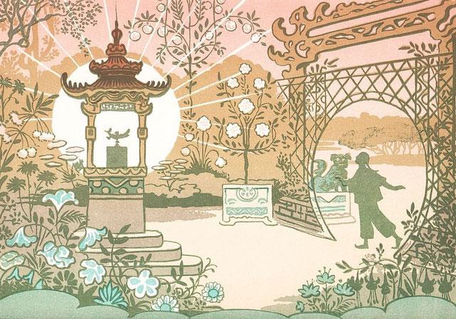 La Lampe. Lucien Métivet (1863-1932) : Aladin. Ombres chinoises en quinze tableaux. Flammarion, Paris, 1904 Première représentation en février 1904 au Théâtre des Mathurins, direction Jules Berny.