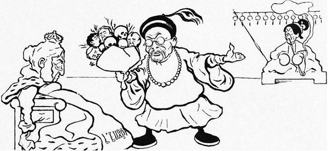La commission. John Grand-Carteret (1850-1927) : Chinois d'Europe et Chinois d'Asie. 175 images satiriques, pour servir à l'histoire des chinoiseries de la politique européenne de 1842 à 1900.